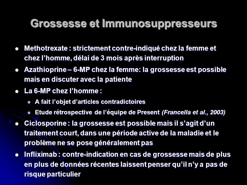Grossesse et Immunosuppresseurs