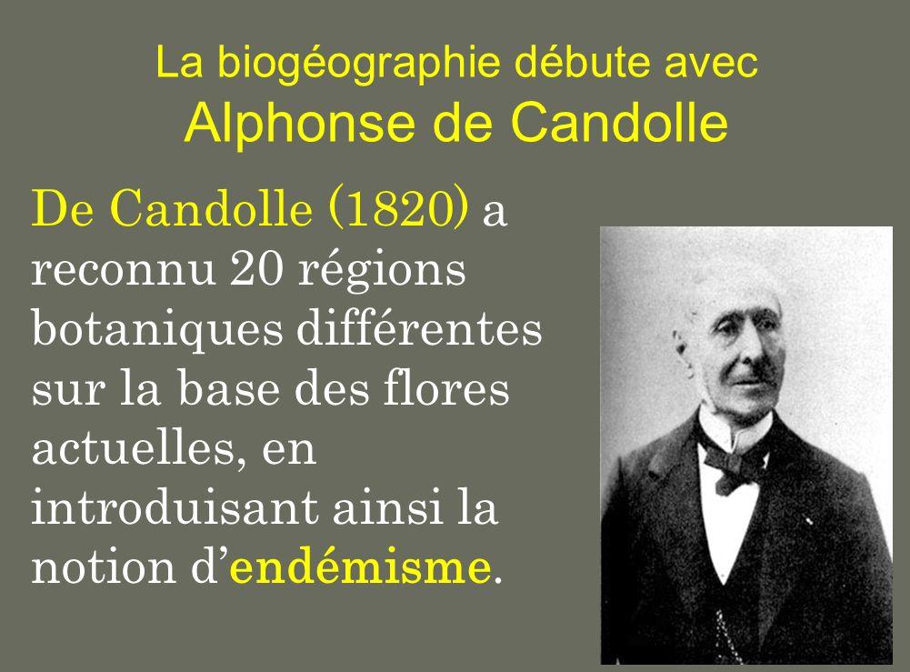 La biogéographie débute avec Alphonse de Candolle