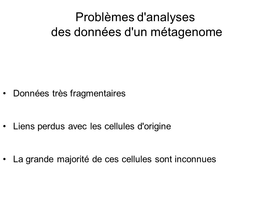 des données d un métagenome