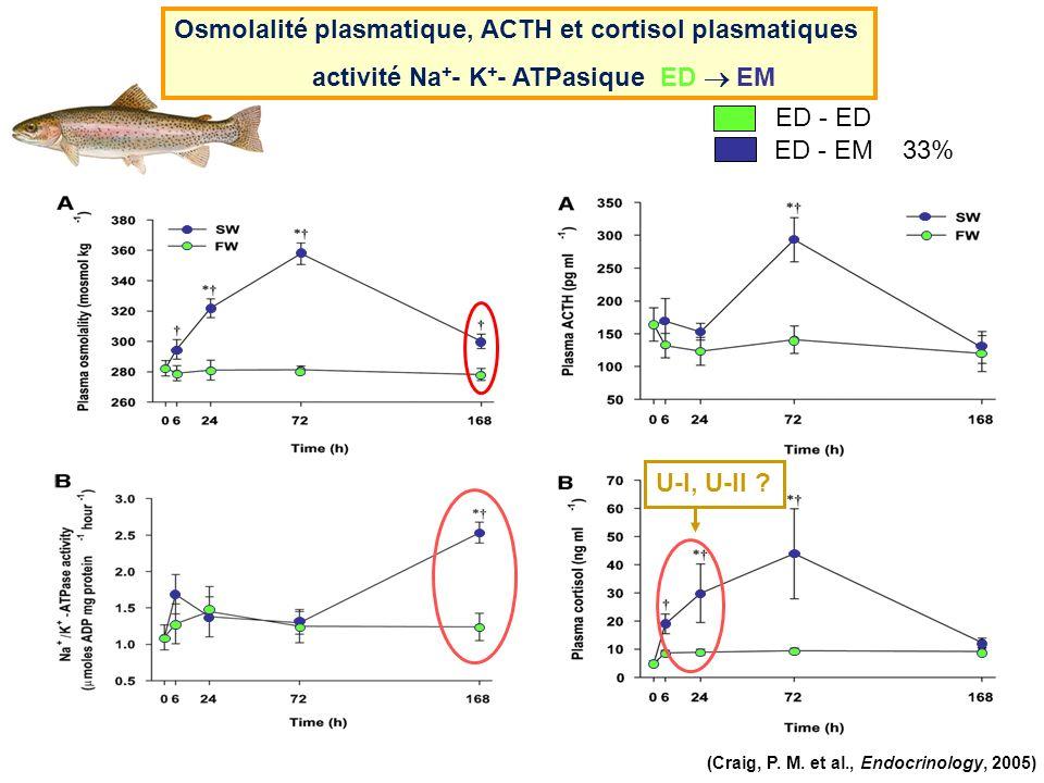 Osmolalité plasmatique, ACTH et cortisol plasmatiques