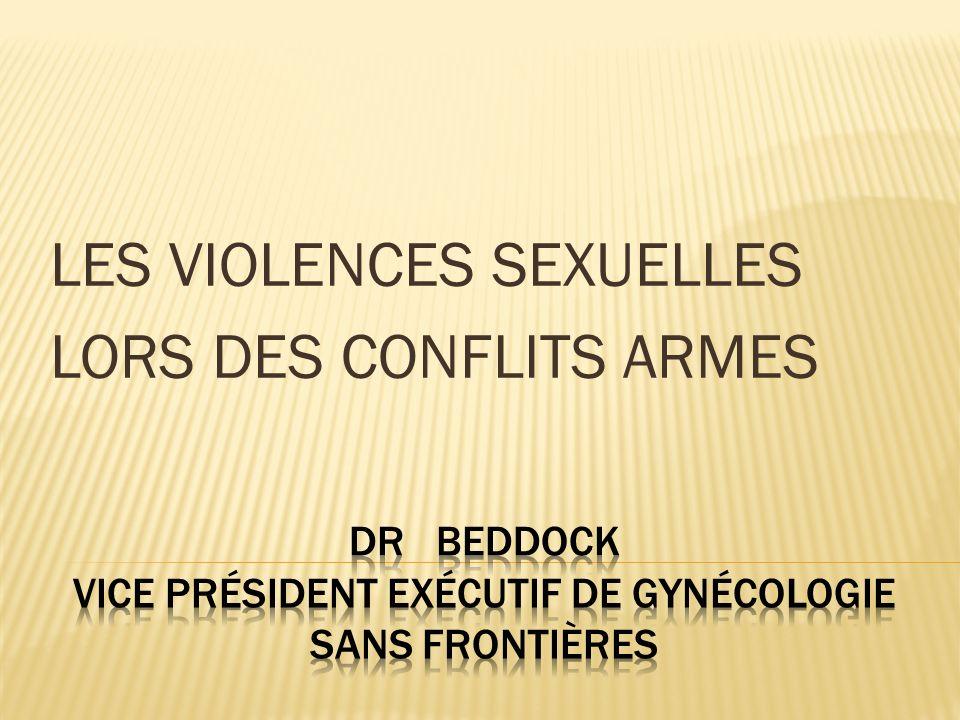DR Beddock Vice président exécutif de Gynécologie Sans Frontières