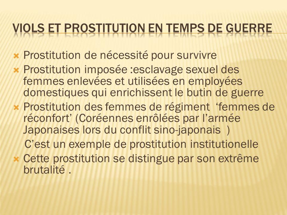 Viols et prostitution en temps de guerre