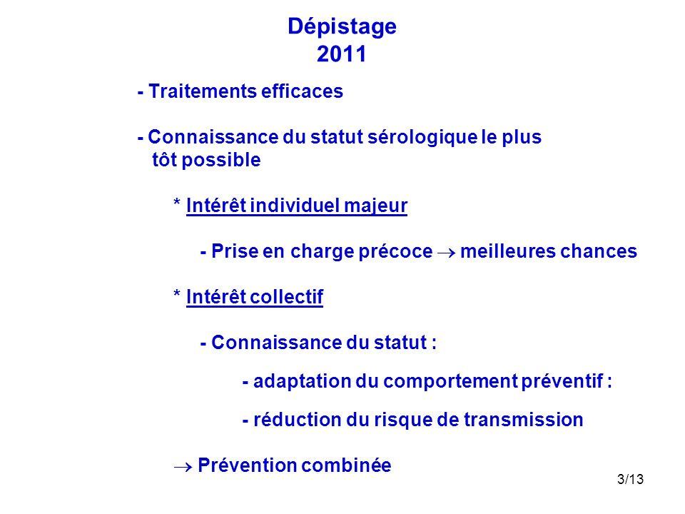 Dépistage 2011 - Traitements efficaces