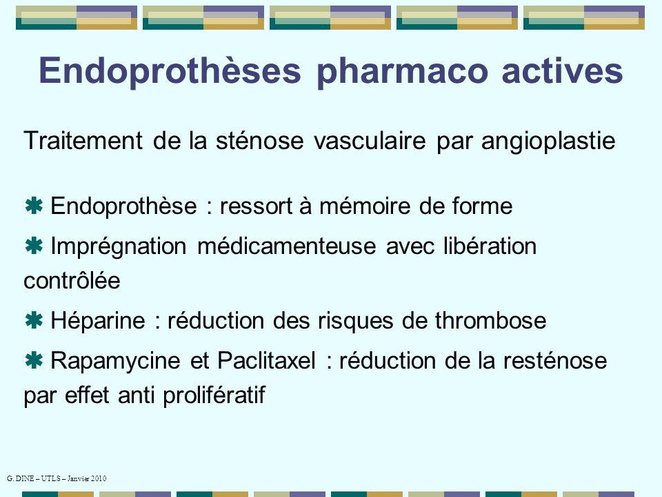 Endoprothèses pharmaco actives