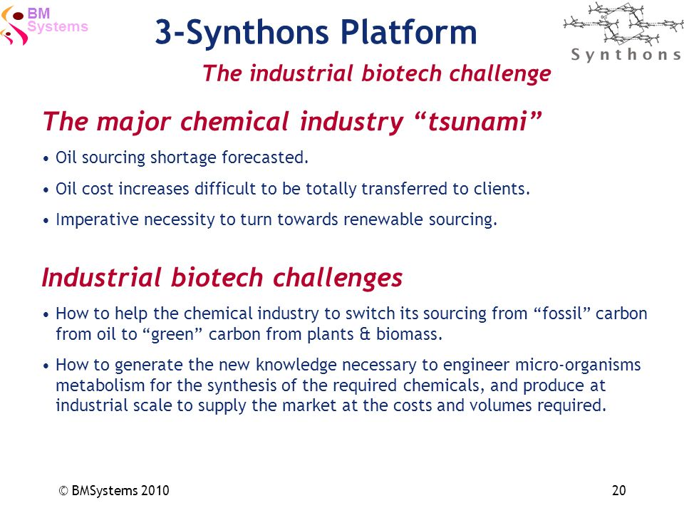 3-Synthons Platform The major chemical industry tsunami