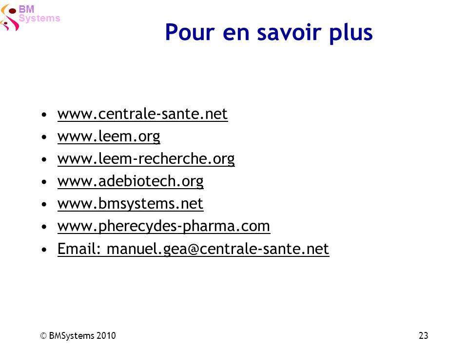 Pour en savoir plus www.centrale-sante.net www.leem.org