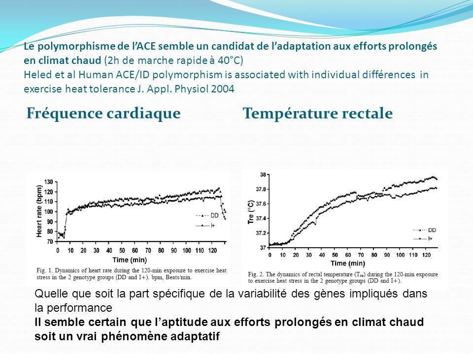 Fréquence cardiaque Température rectale