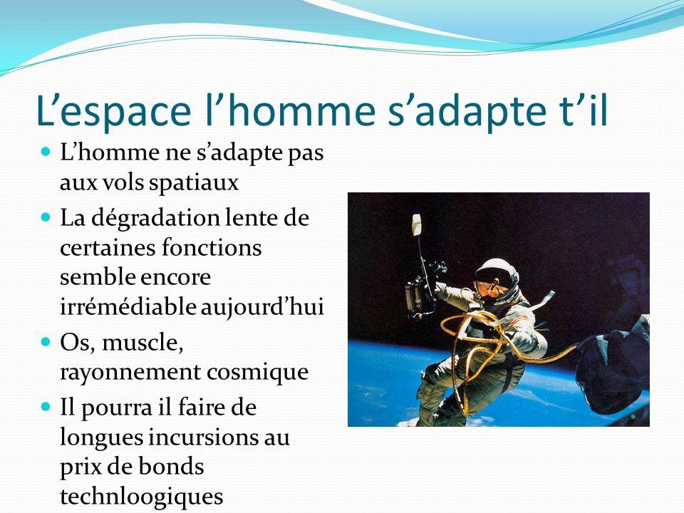 L'espace l'homme s'adapte t'il