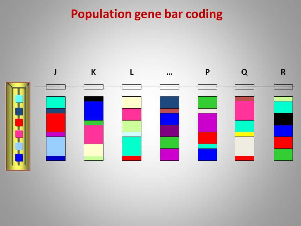 Population gene bar coding