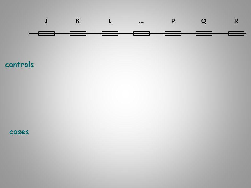 J K L … P Q R controls cases