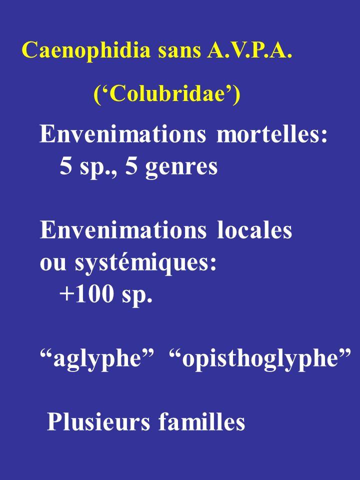 Envenimations locales ou systémiques: +100 sp.