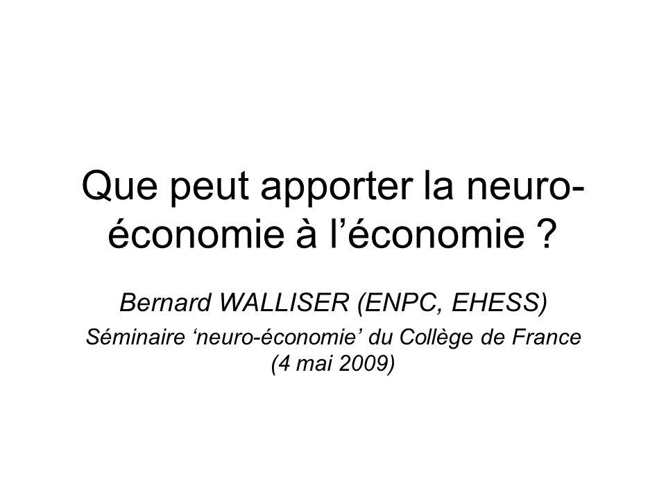 Que peut apporter la neuro-économie à l'économie