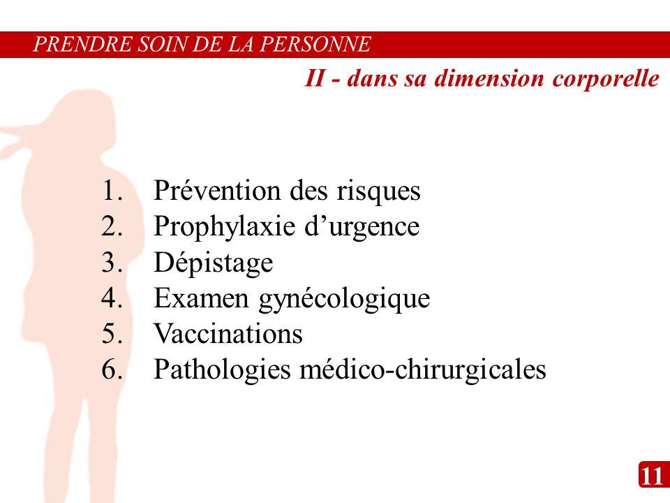 Prévention des risques Prophylaxie d'urgence Dépistage