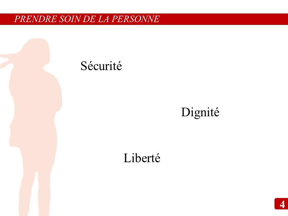 PRENDRE SOIN DE LA PERSONNE