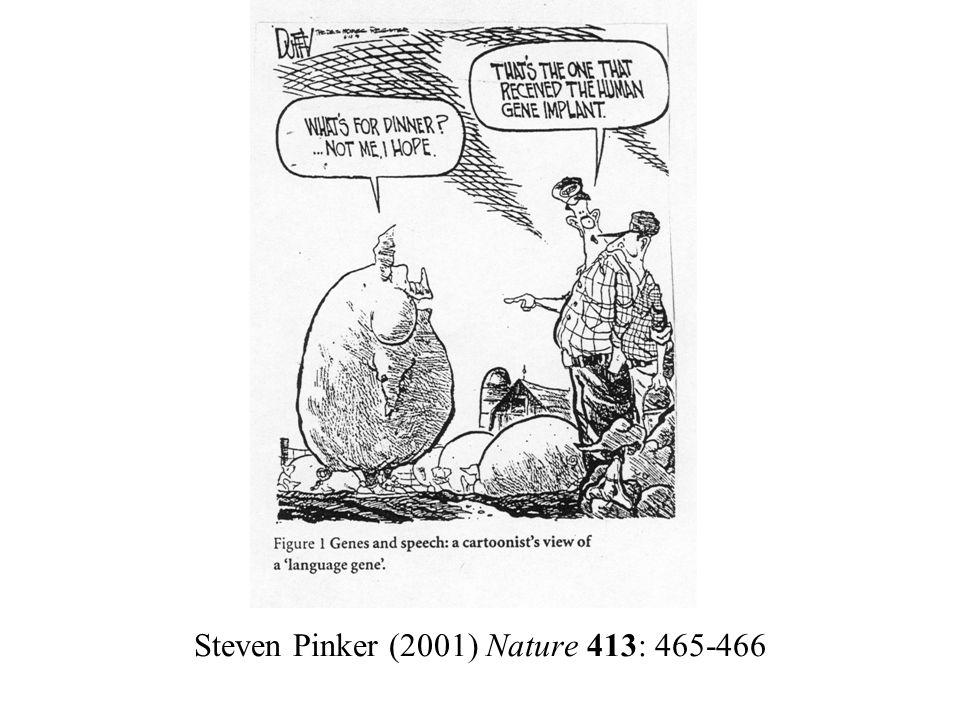 Steven Pinker (2001) Nature 413: 465-466