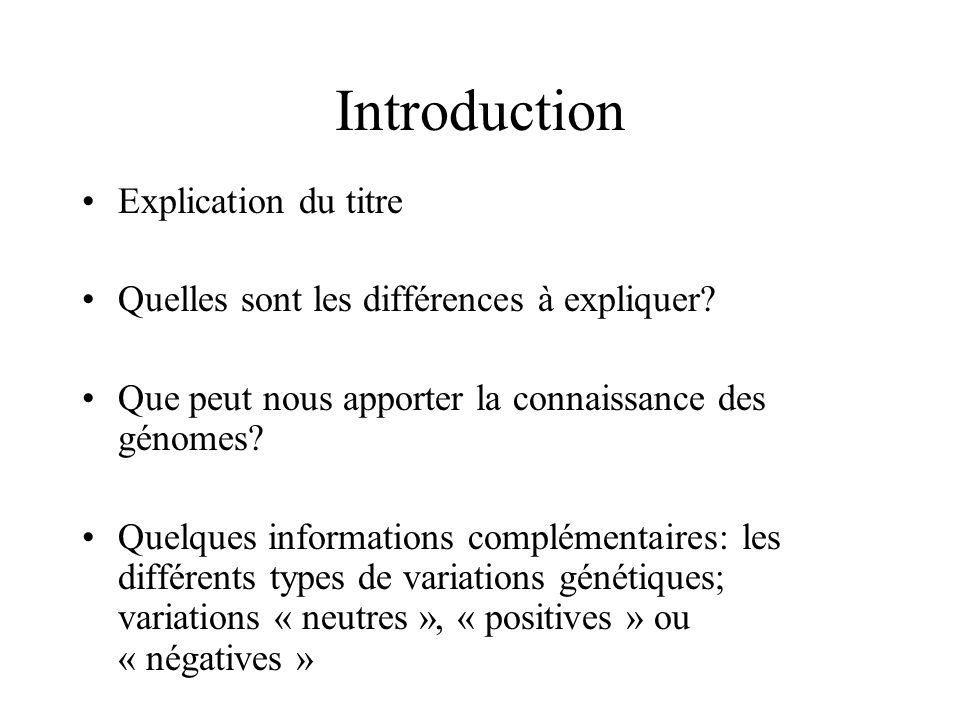 Introduction Explication du titre