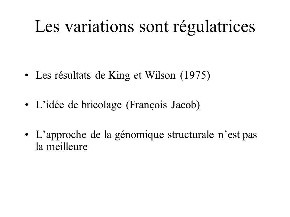 Les variations sont régulatrices