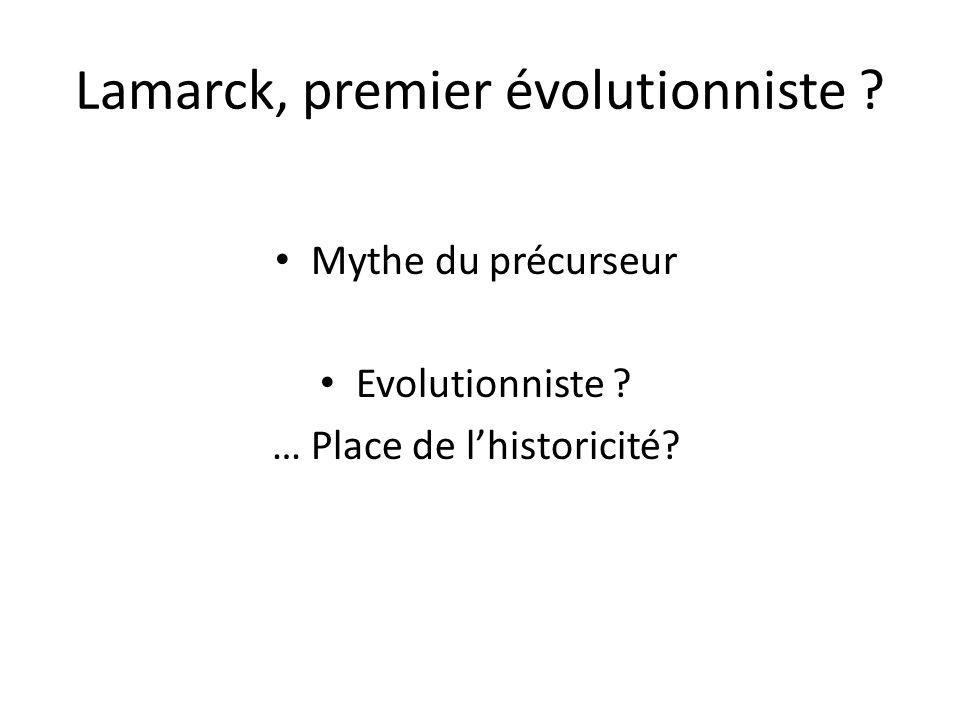 Lamarck, premier évolutionniste