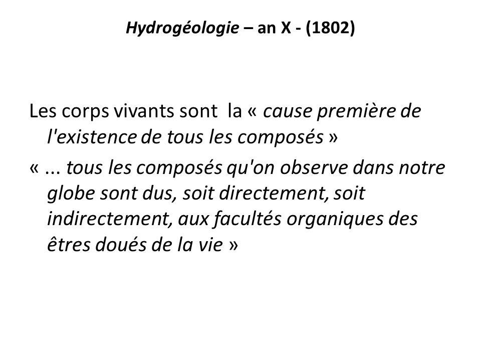 Hydrogéologie – an X - (1802)