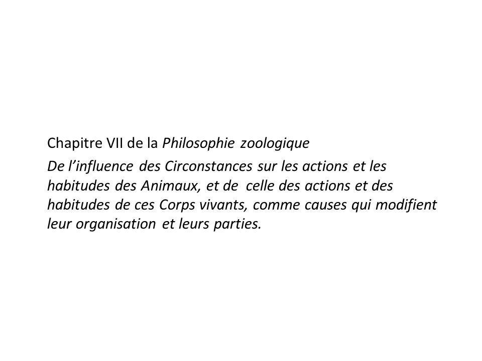 Chapitre VII de la Philosophie zoologique