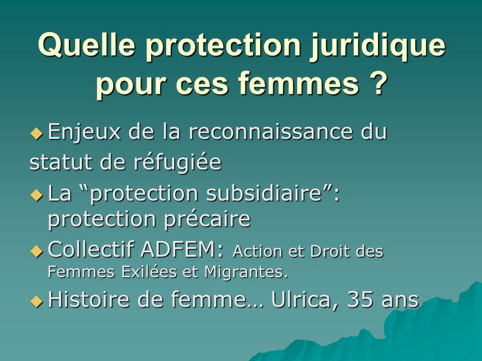 Quelle protection juridique pour ces femmes