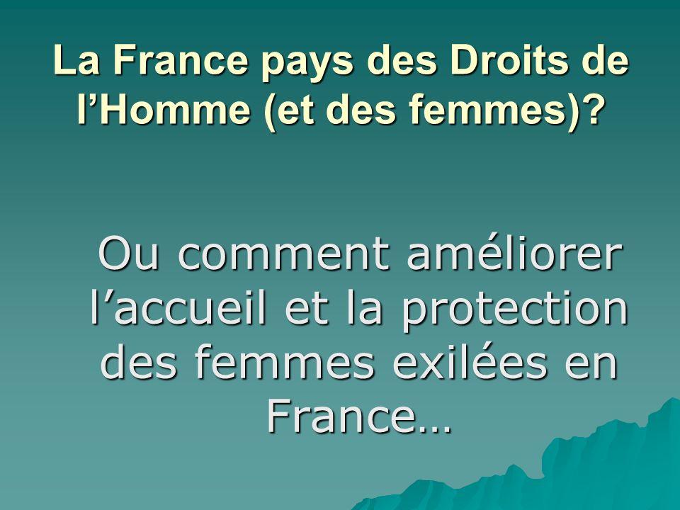 La France pays des Droits de l'Homme (et des femmes)