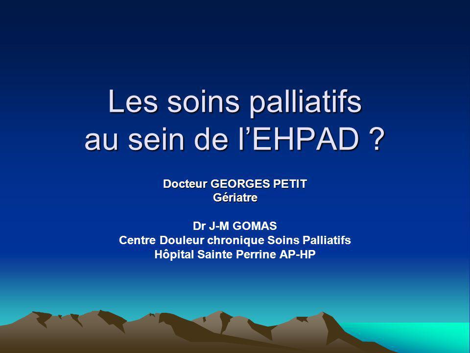 Les soins palliatifs au sein de l'EHPAD