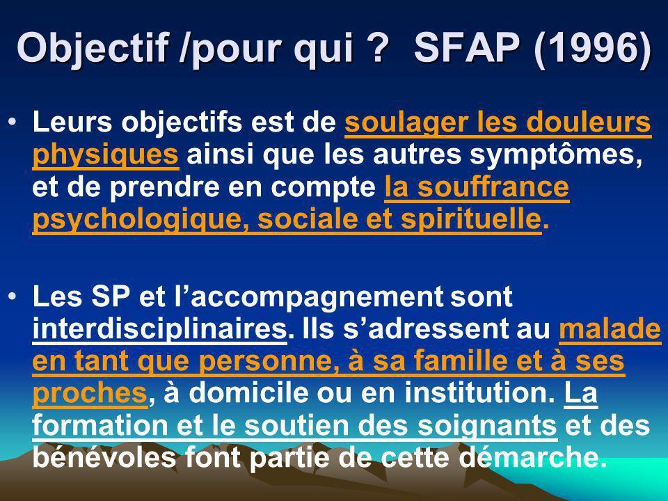 Objectif /pour qui SFAP (1996)