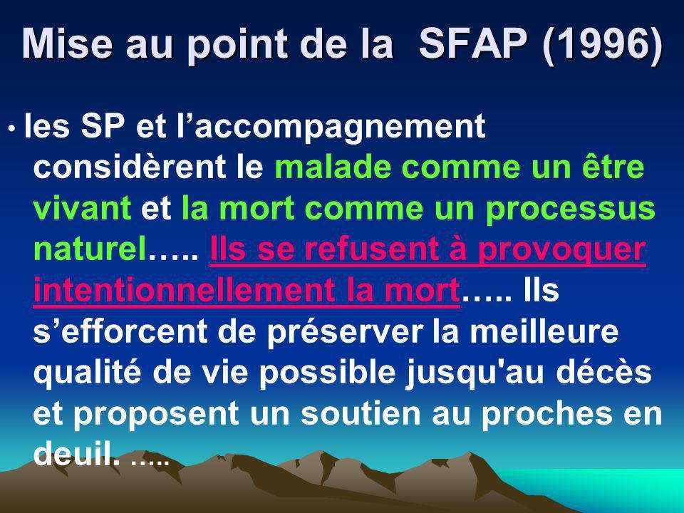 Mise au point de la SFAP (1996)