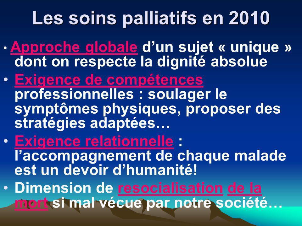 Les soins palliatifs en 2010