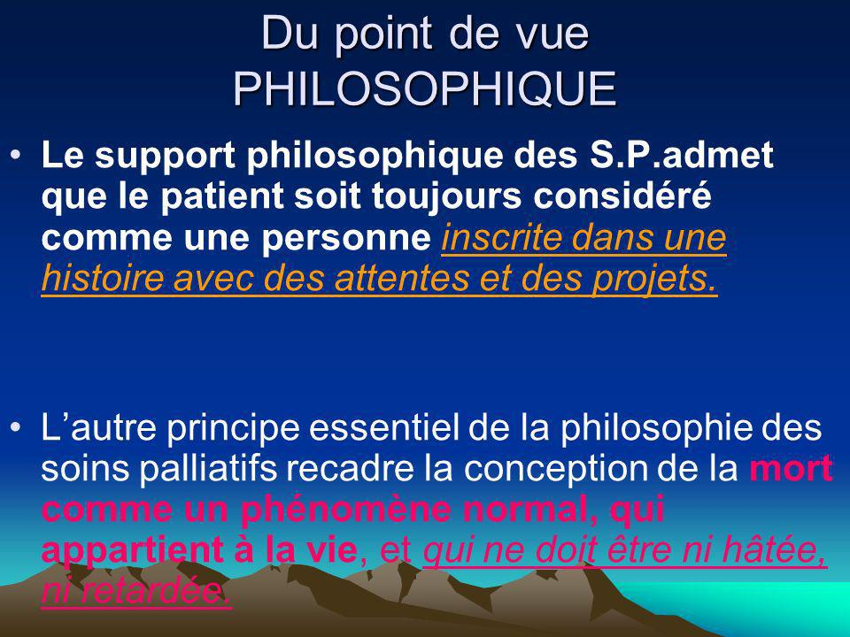 Du point de vue PHILOSOPHIQUE
