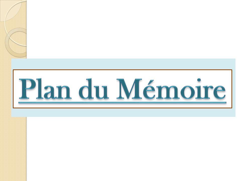 Plan du Mémoire