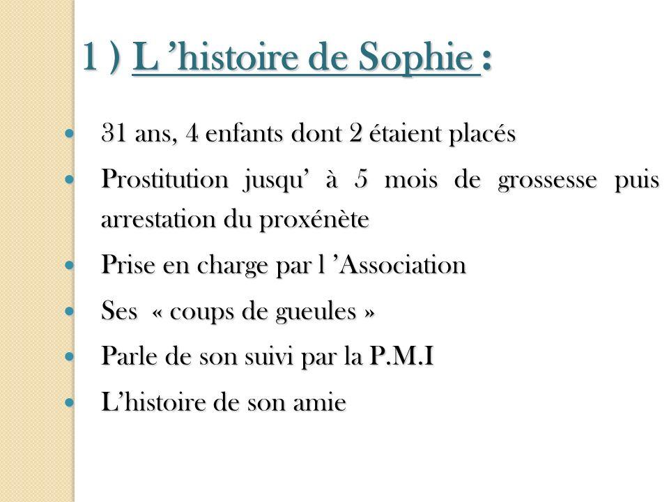1 ) L 'histoire de Sophie :