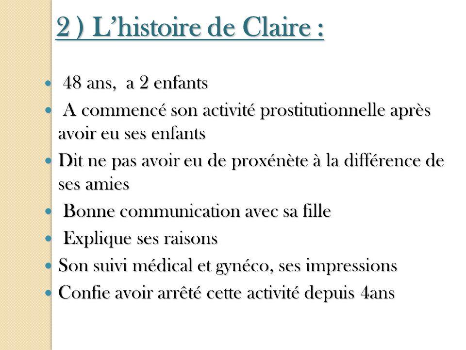 2 ) L'histoire de Claire :