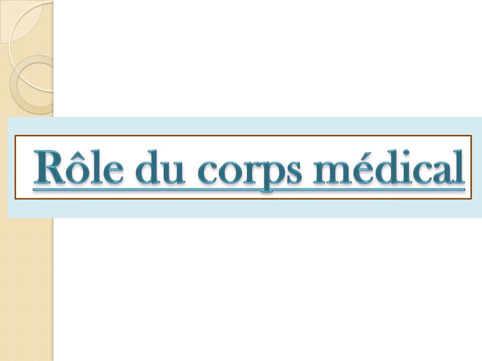 Rôle du corps médical