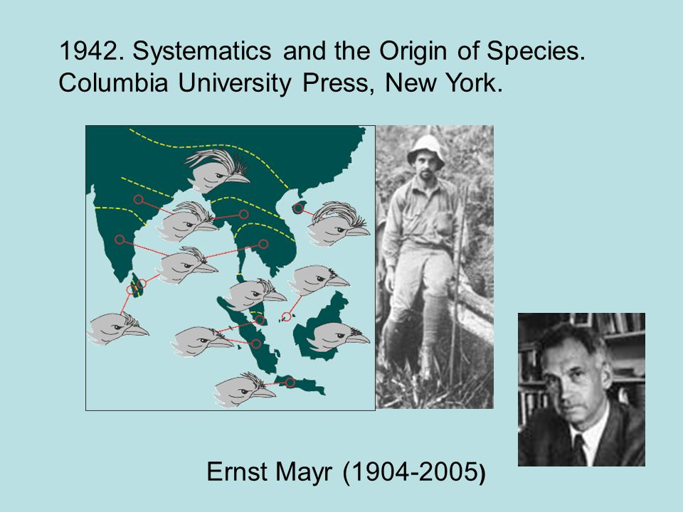 1942. Systematics and the Origin of Species.
