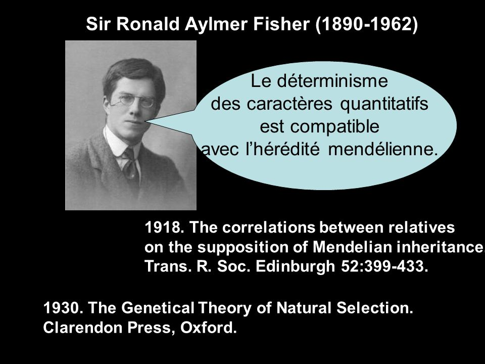 Sir Ronald Aylmer Fisher (1890-1962)