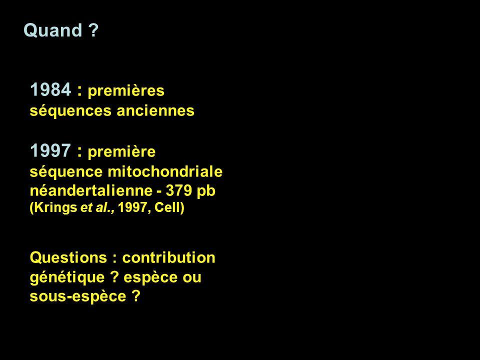 1984 : premières séquences anciennes