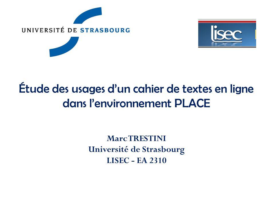 Marc TRESTINI Université de Strasbourg LISEC - EA 2310