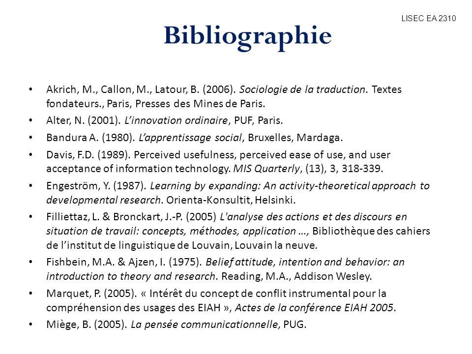 LISEC EA 2310 Bibliographie.