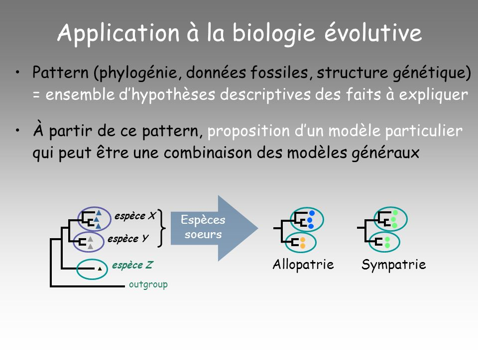 Application à la biologie évolutive