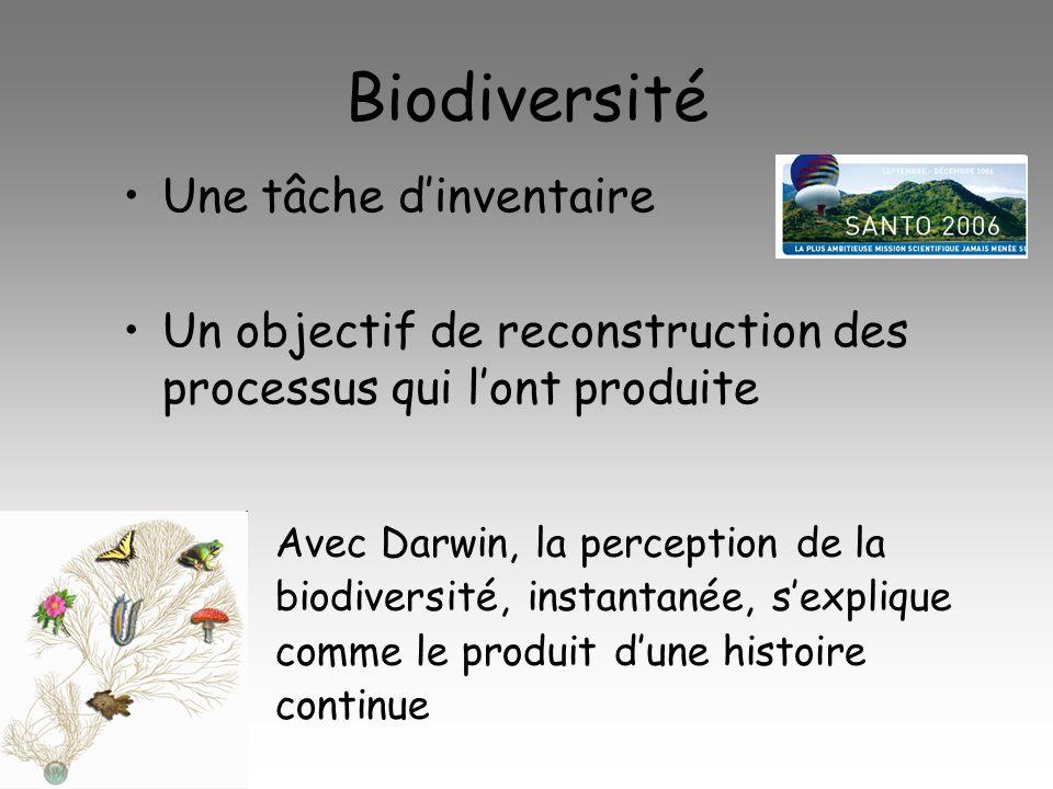 Biodiversité Une tâche d'inventaire