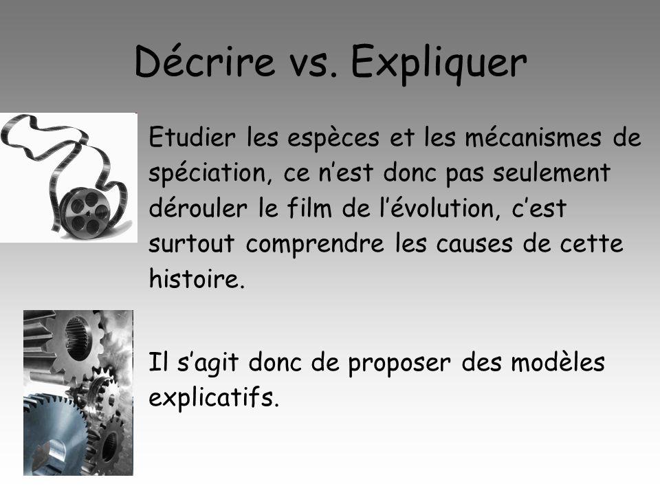 Décrire vs. Expliquer