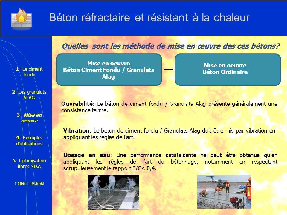 Béton Ciment Fondu / Granulats Alag