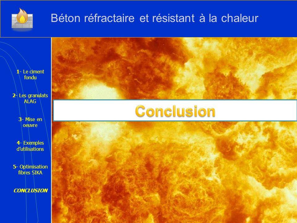 Conclusion Béton réfractaire et résistant à la chaleur