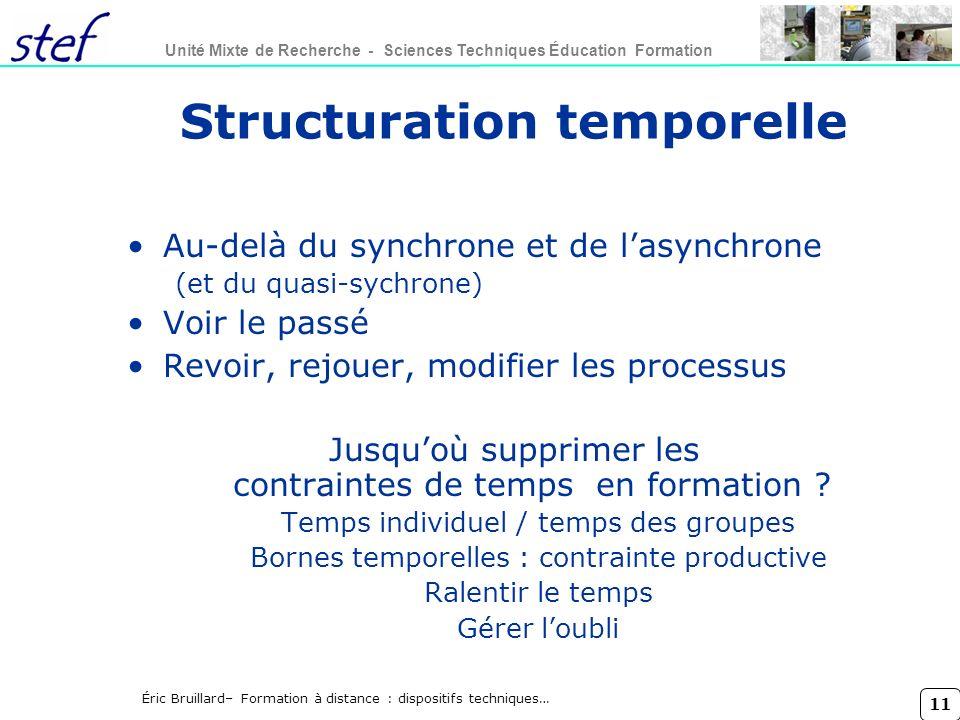 Structuration temporelle