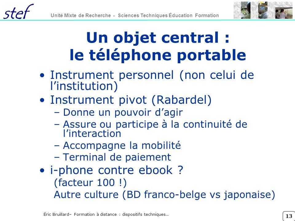 Un objet central : le téléphone portable