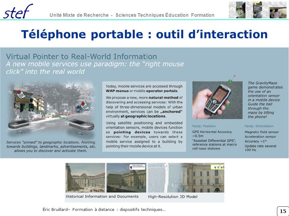 Téléphone portable : outil d'interaction