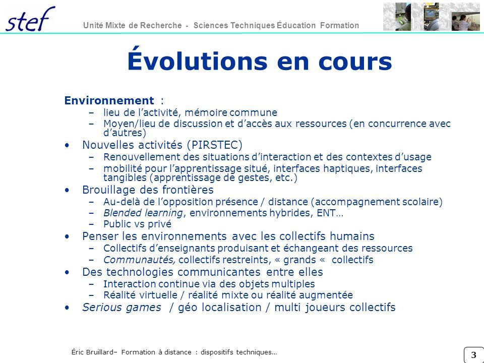 Évolutions en cours Environnement : Nouvelles activités (PIRSTEC)