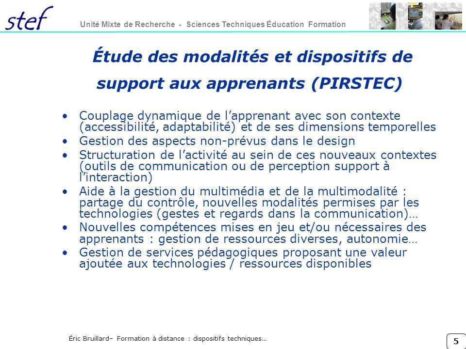 Étude des modalités et dispositifs de support aux apprenants (PIRSTEC)